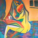 """Bee"" art drawing / photo Би -Бисексуалки холст\масло earta.ru"
