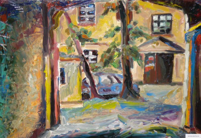 """Yard"" painting sketch drawing / photo earta.ru"