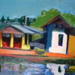 """The House on the Shore"" painting picture / photo Дом на берегу холст/масло"