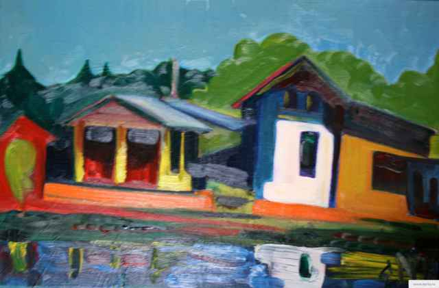 """The House on the Shore"" painting picture / photo"