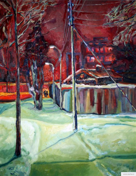 """Winter Night"" painting picture / photo"