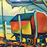 """Метеостанция2""""Meteostantsiya2"""" painting picture / photo Метеостанция 2 холст/масло Астраханская область д. Пироговка"""