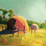 """Haystacks"" painting picture / photo степь стога Астраханская обл."