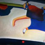 """A runaway cat 'painting drawing / photoУбегающий кот холст/масло"