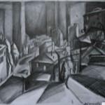 EARTA.ru Картины Наброски Зарисовки город-в-подъезде-150x150 Карандаш