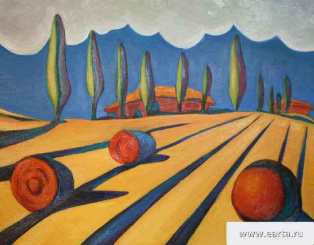 """Thunder in Italy"" painting picture / photo Гроза в Италии орг\масло earta.ru"
