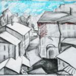 EARTA.ru Картины Наброски Зарисовки дворик-тоновой-эскиз-150x150 Карандаш