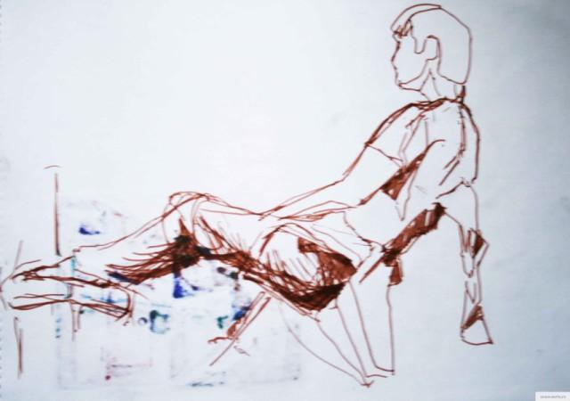 Паша на стуле earta.ru рисунок / набросок / фото