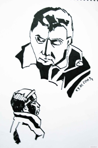 Парень в электричке earta.ru рисунок / набросок / фото