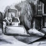 EARTA.ru Картины Наброски Зарисовки трактор-150x150 Карандаш