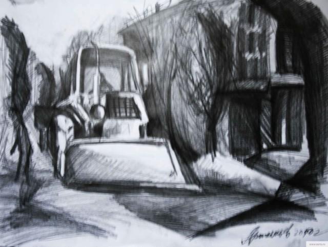 Трактор рисунок/фото