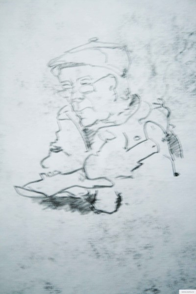 The old man earta.ru drawing / sketch / photo