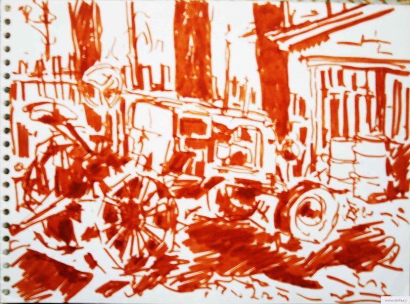 Traktor трактор рисунок/фото