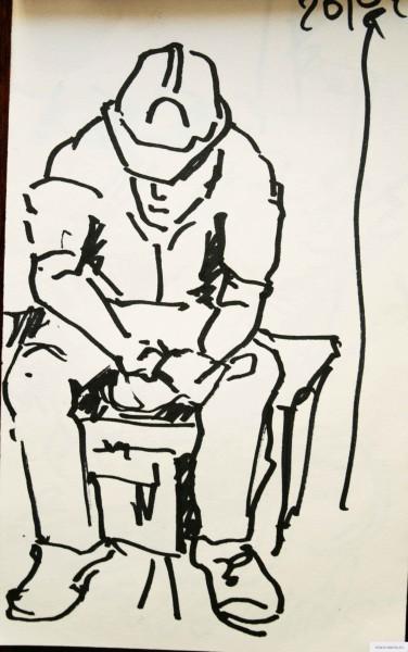 Hard worker rests vkontakte earta.ru drawing / sketch / photo