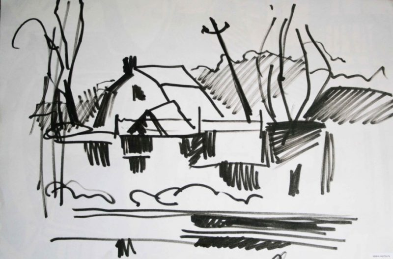 cottages drawing / photo