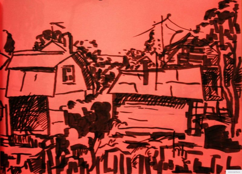 cottages 2 drawing / photo