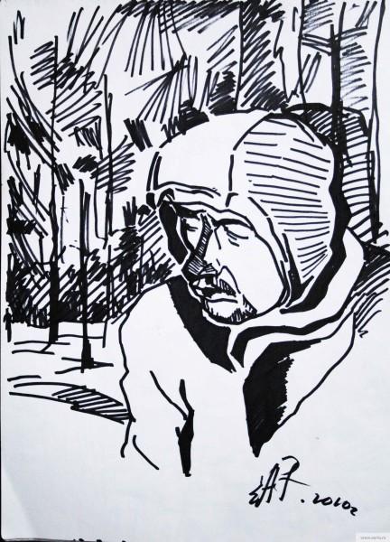 The man at Croke earta.ru drawing / sketch / photo