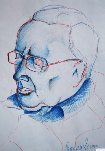 портрет старика 2 элеектросталь рисунок/фото