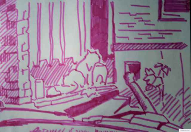 Три кота на помойке earta.ru рисунок / набросок / фото
