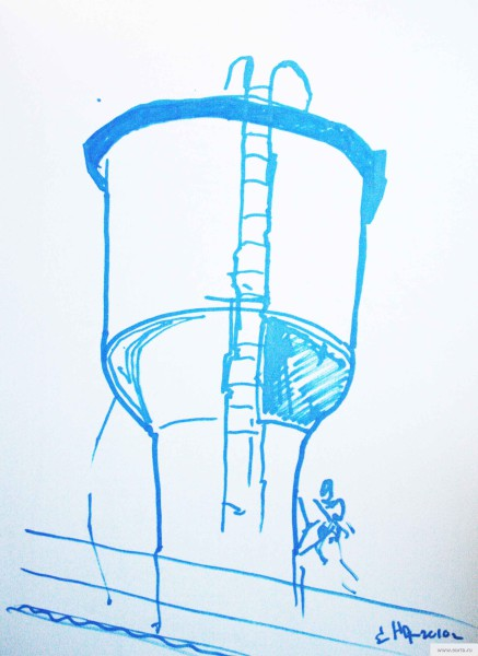 Vodokachka sketch drawing / photo