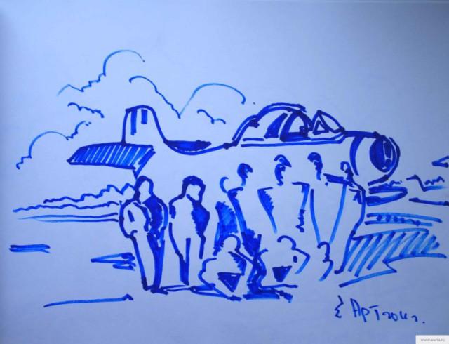 У самолета рисунок/фото