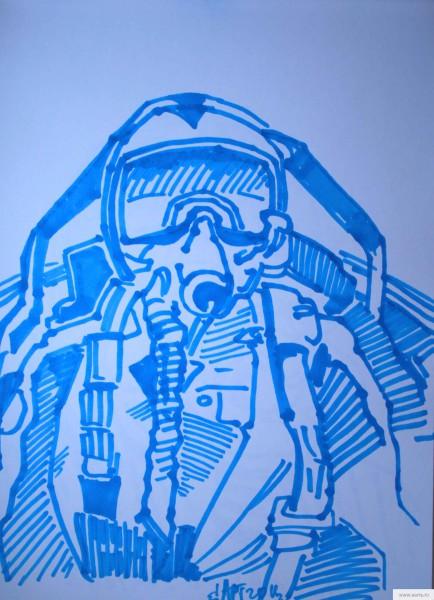 Пилот в кабине истребителя earta.ru рисунок/набросок/фото
