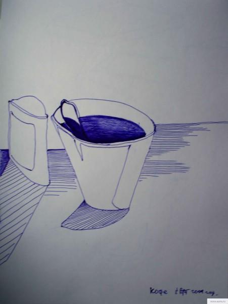кофе набросок рисунок/фото