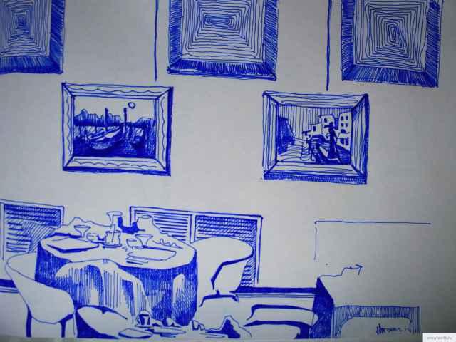 стена ресторана рисунок/фото
