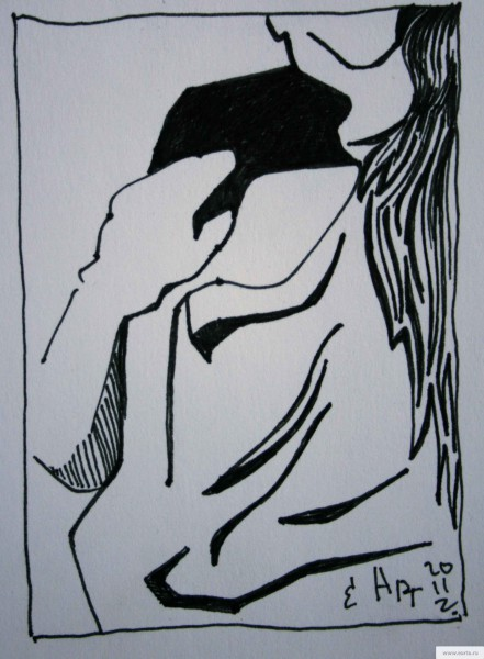 Тень словно за тобой earta.ru рисунок/набросок/фото