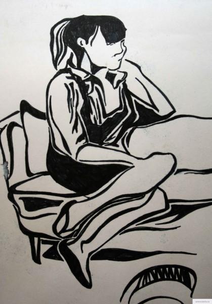Татьяна отдыхает earta.ru drawing / sketch / photo