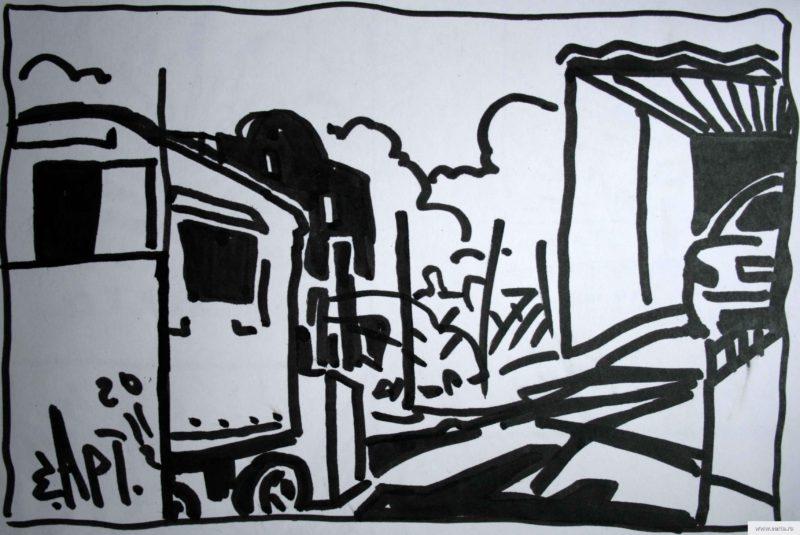 old wagon earta.ru drawing / sketch / photo