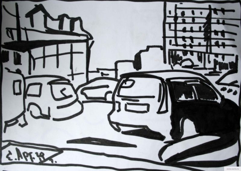 cars are earta.ru drawing / sketch / photo
