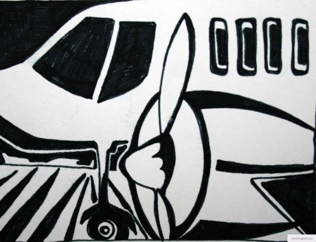 Самолет рисунок/фото