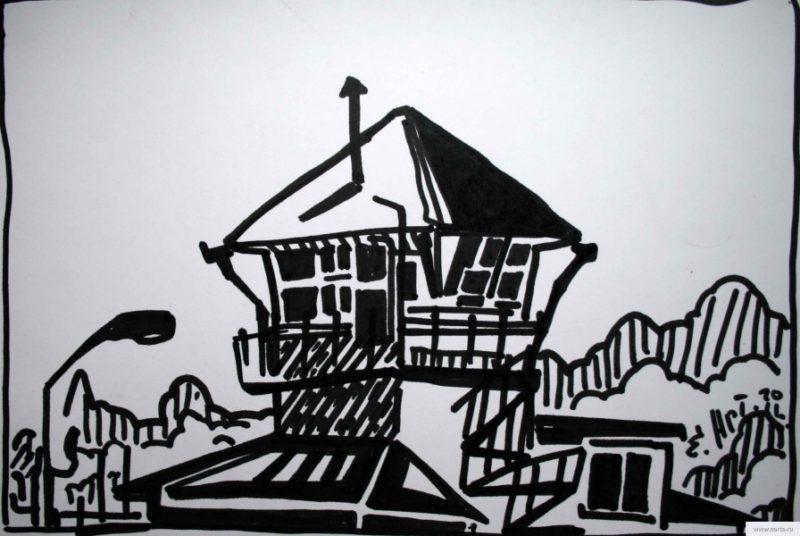 Tower Aerodom Kirzhach earta.ru drawing / sketch / photo