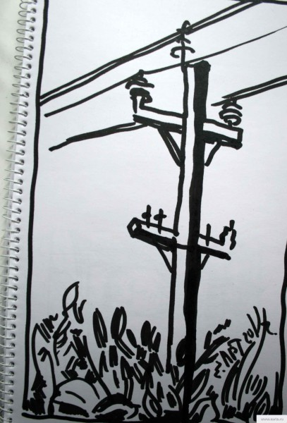 electric pole earta.ru drawing / sketch / photo