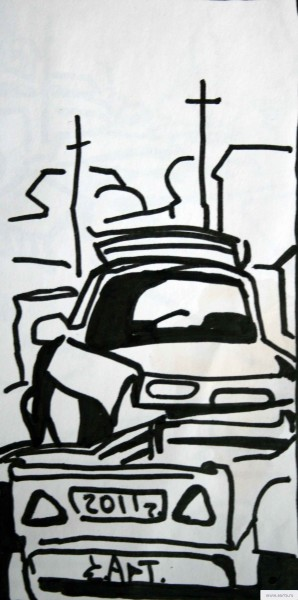 broken car earta.ru drawing / sketch / photo