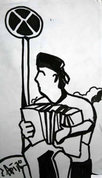 Дед с баяном earta.ru рисунок / набросок / фото