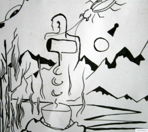 Штопор рисунок/фото