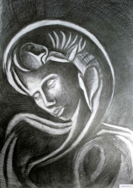 Богиня материнства рисунок/фото