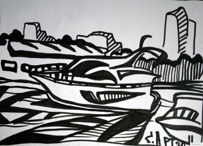boat earta.ru drawing / sketch / photo