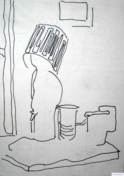 Лампа писающий мальчик натюрморт earta.ru рисунок / набросок / фото