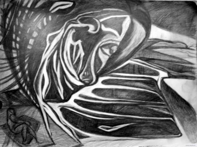 Танец в степи рисунок/фото