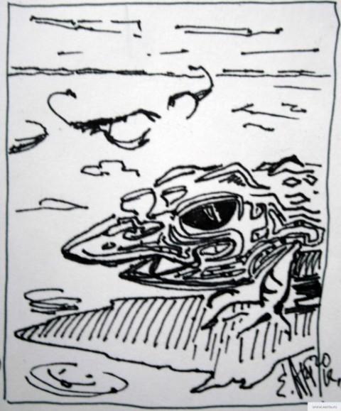 Пустыня ящериц и скорпионов рисунок/фото