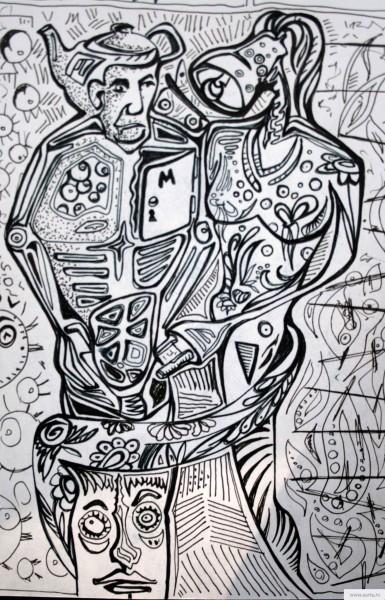 Мужчина и Жен рисунок/фото