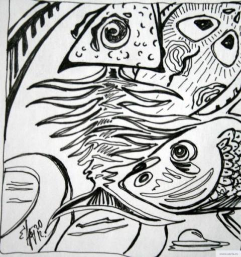 Рыбы рисунок/фото