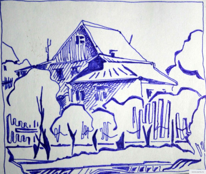 House and waltzing home earta.ru drawing / sketch / photo