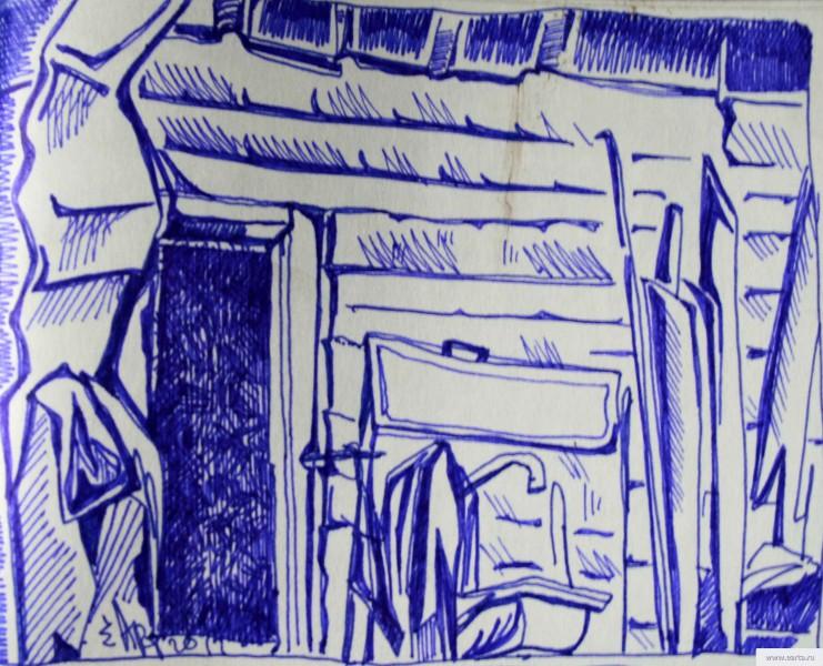 porch in a little more than dvorahearta.ru drawing / sketch / photo