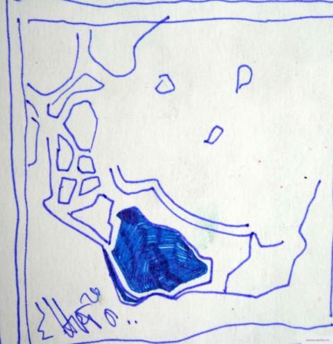 Пятно на асфальте рисунок/фото