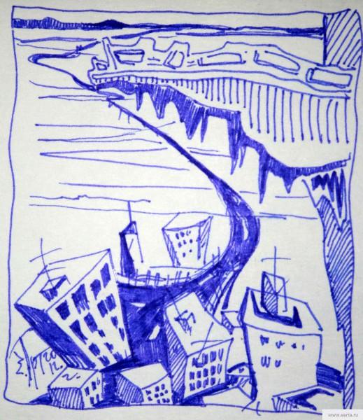 Город на краю земли рисунок/фото