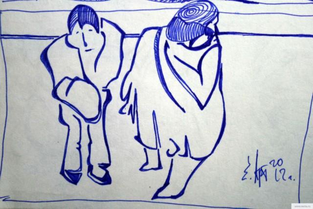 Соседи смотрят свадьбу earta.ru рисунок / набросок / фото